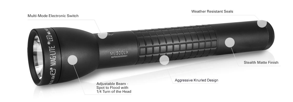 Maglite Ml300lx 3d Cell Version Led Flashlight 625 Lumens
