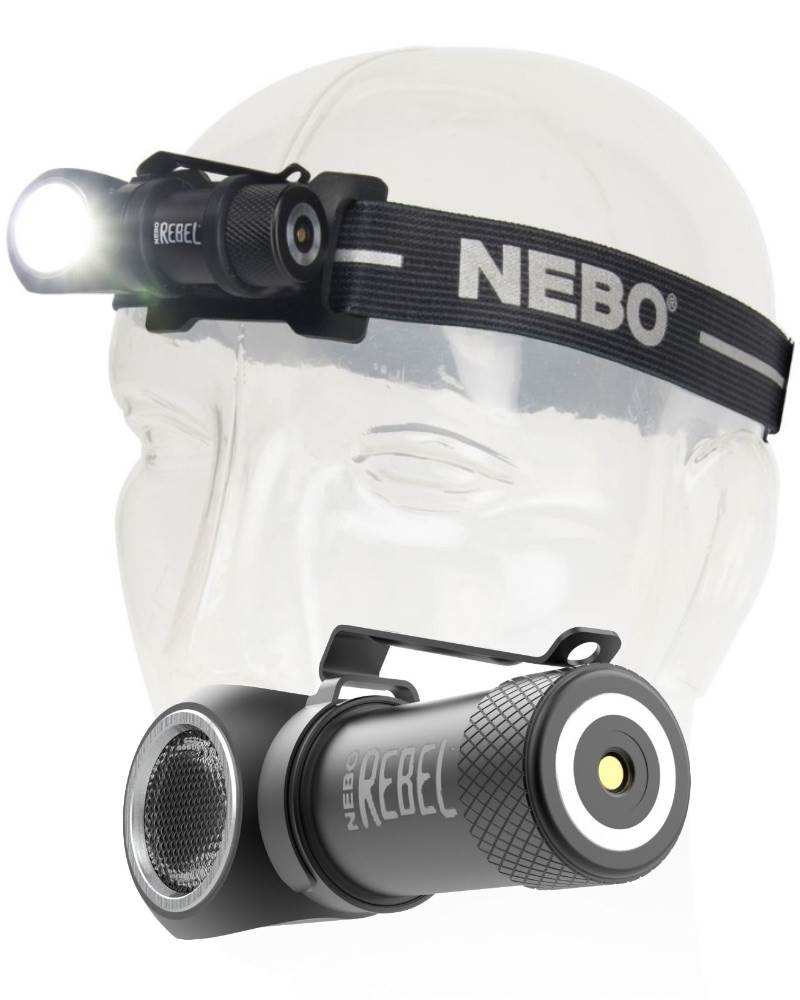 NEW Nebo Rebel  Rechargable Task Light//Head Lamp 600 lumen